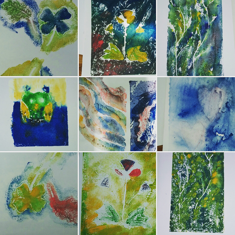 Collagraphs and painterly prints with Colour Your Life