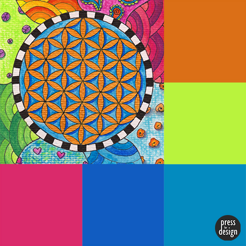 Tuesday Colour Inspiration – Flower of Life
