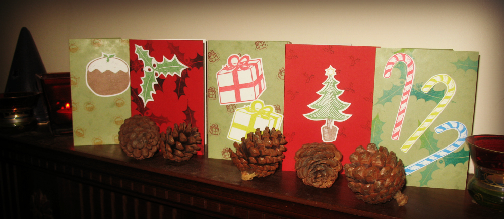 Make your own lino printed Christmas cards