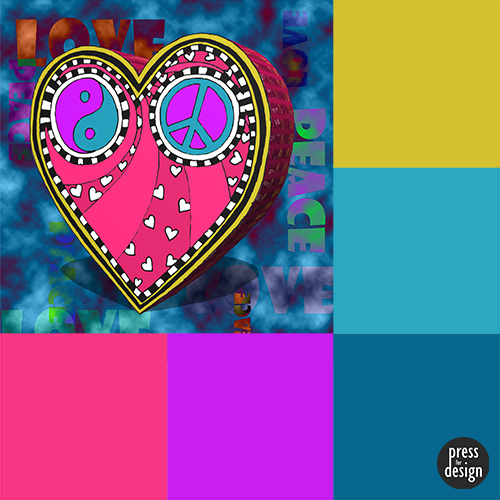 Tuesday Colour Inspiration – Peace and Love Heart