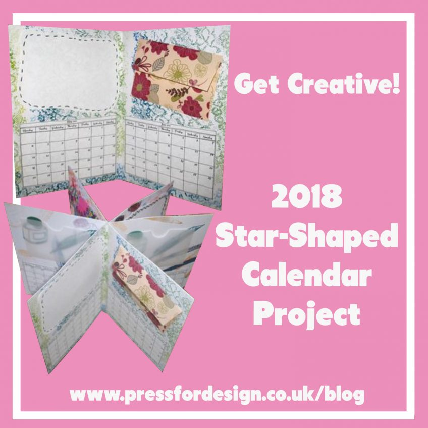 Get Creative: Star shaped desk calendar project – with mini envelope printables and 2018 calendar printable!