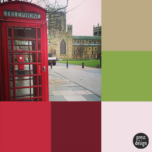 Tuesday Colour Inspiration: Telephone Box at Durham Cathedral